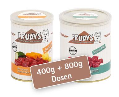 400g und 800g Dosen Hundenassfutter